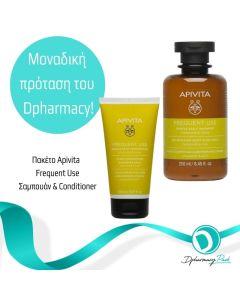 Apivita Πακέτο Set Frequent Use Σετ Σαμπουάν Καθημερινής Χρήσης Με Χαμομήλι & Μέλι 250ml & Frequent Use Conditioner 150ml