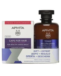 Apivita Πακέτο Promo Set Hairloss Σετ Κάψουλες Για Υγιή Μαλλιά & Νύχια 30 Caps & Δώρο Men's Tonic Shampoo Σαμπουάν Κατά Της Τριχόπτωσης Για Άνδρες 250ml
