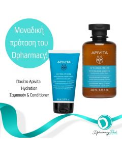 Apivita Πακέτο Set Hydration Moisturizing Σετ Σαμπουάν Ενυδάτωσης 250ml & Hydration Moisturizing Conditioner 150ml