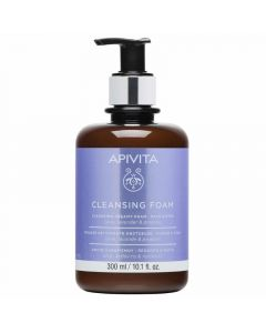 Apivita Limited Edition Κρεμώδης Αφρός Καθαρισμού Για Πρόσωπο & Μάτια Με Ελιά, Λεβάντα & Πρόπολη 300ml