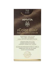 Apivita My Color Elixir Μόνιμη Βαφή Μαλλιών Nο 7.0 Φυσικό Ξανθό 50ml + 75ml