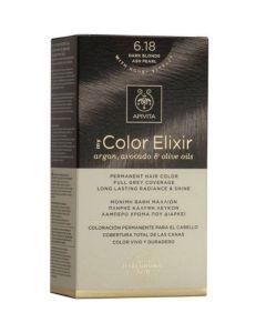 Apivita My Color Elixir Μόνιμη Βαφή Μαλλιών No 6.18 Ξανθό Σκούρο Σαντρέ Περλέ 50ml+75ml