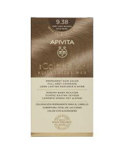 Apivita My Color Elixir Μόνιμη Βαφή Μαλλιών No. 9.38 Ξανθό Πολύ Ανοιχτό Μελί Περλέ 50ml + 75ml