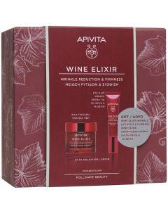 Apivita Πακέτο Promo Set Wine Elixir Σετ Αντιρυτιδική Κρέμα Για Σύσφιξη & Lifting Πλούσιας Υφής 50ml & Δώρο Αντιρυτιδική Κρέμα Για Μάτια & Χείλη 15ml