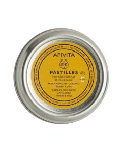 Apivita Pastilles Καραμέλες Για Το Λαιμό Με Θυμάρι & Μέλι 45gr