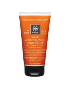 Apivita Shine & Revitalizing Κρέμα Μαλλιών Για Λάμψη & Αναζωογόνηση Με Πορτοκάλι & Μέλι 150ml