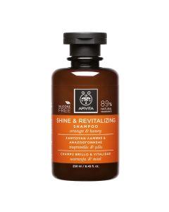 Apivita Shine Σαμπουάν Λάμψης & Αναζωογόνησης Με Πορτοκάλι & Μέλι 250ml