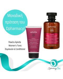 Apivita Πακέτο Set Apivita Women's Tonic Σετ Με Τονωτικό Σαμπουάν Για Γυναίκες 250ml Apivita Tonic Conditioner Τονωτική Κρέμα Για Αδύναμα Μαλλιά 150ml