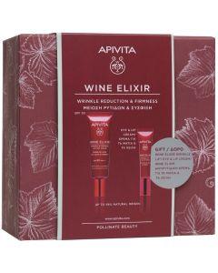 Apivita Πακέτο Promo Set Wine Elixir Σετ Αντιρυτιδική Κρέμα Ημέρας SPF30 40ml & Δώρο Αντιρυτιδική Κρέμα Για Μάτια & Χείλη 15ml
