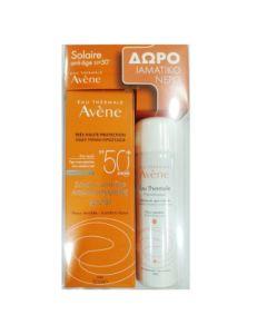 Avene Solaire Anti-Age Promo Set Πακέτο Αντηλιακό Dry Touch Για Αντιγηραντική Φροντίδα 50ml + Δώρο Eau Thermale Ιαματικό Νερό 50ml