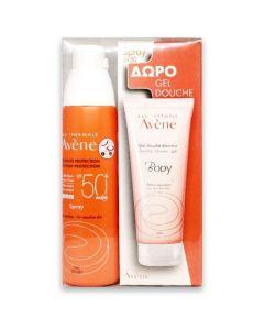 Avene Sun Screen Promo Set Πακέτο Αντηλιακό Προσώπου- Σώματος Κατά Της Ξηρότητας SPF50+ Για Ευαίσθητα Δέρματα 200ml + Δώρο Body Shower Gel 100ml