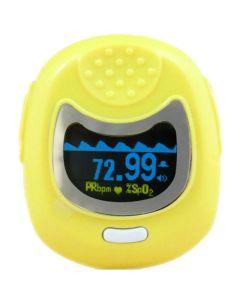 Contec Pulse Oximeter Cms50Qb Οξύμετρο Δακτύλου Παιδιατρικό Σε Κίτρινο Χρώμα 1τμχ