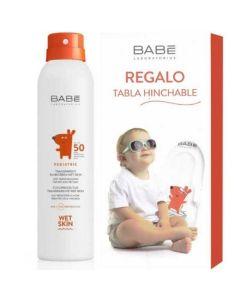 Babe Πακέτο Promo Set Pediatric Sunscreen Σετ Παιδικό Αντιηλιακό Spray SPF50 200ml & Δώρο Φουσκωτή Σανίδα