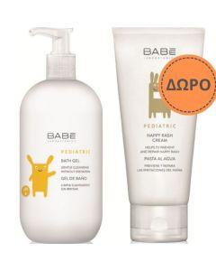 Babe Promo Pediatric Bath Gel Παιδικό Αφρόλουτρο 500ml & Δώρο Pediatric Nappy Rash Βρεφική Κρέμα για Σύγκαμα 100ml