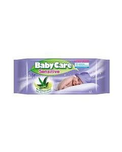 Babycare Sensitive Μωρομαντηλα με Αλοη 63Τμχ