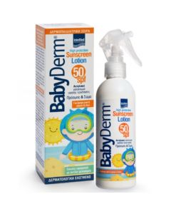 Intermed Babyderm Insect & Sun Protection Lotion SPF50 Αντηλιακό Γαλάκτωμα Με Εντομοαπωθητική Δράση 200ml