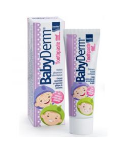 Intermed Babyderm Toothpaste Παιδική Οδοντόκρεμα Με Γεύση Τσιχλόφουσκα 1000ppm 50ml