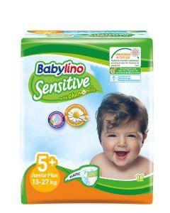 Babylino Sensitive Junior Plus No5+ (13-27Kg) 16 Βρεφικές Πάνες