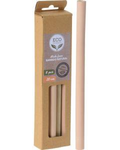 Bamboo Straws Καλαμάκια Από Μπαμπού 8Τμχ