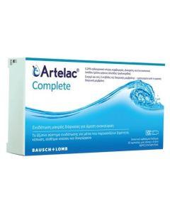 Bausch & Lomb Artelac Complete Λιπαντικό Οφθαλμικό Διάλυμα 30x0,5ml Αμπούλες