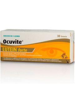 Bausch & Lomb Ocuvite Lutein Forte Φόρμουλα Βιταμινών & Ψευδάργυρου Για Την Καλή Υγεία Των Ματιών 30 Κάψουλες