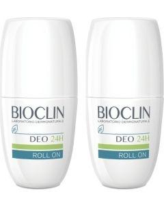 Bioclin Deo 24H 1+1 Δώρο Roll-On Αποσμητικό για Κανονική Εφίδρωση 2x50ml