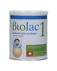 Biolac 1 Organic Milk For Infants Βιολογικό Γάλα Για Βρέφη Έως Tον 6ο Μήνα 400Gr