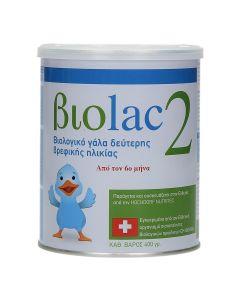 Biolac 2 Βιολογικό Γάλα 2ης Βρεφικής Ηλικίας από τον 6ο μήνα 400gr