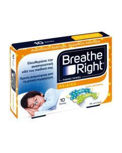 Breathe Right Kids Ρινικές Ταινίες Κατά Της Ρινικής Συμφόρησης Για Παιδιά 5+ 10τμχ