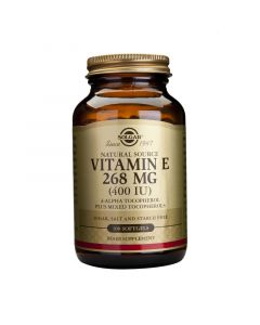 Solgar Vitamin E Συμπληρωμα Διατροφης 268Mg 400 Iu 100 Μαλακες Καψουλες