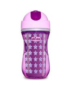 Chicco Sport Cup Παγούρι Υγρών Με Καλαμάκι Σε Ροζ χρώμα Με Καλαμάκι 14Μ+ 266ml