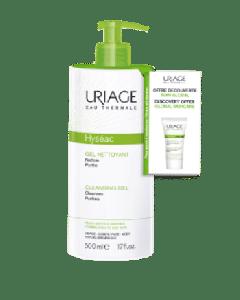 Uriage Hyseac Τζελ Καθαρισμού Για Μικτή Λιπαρή Επιδερμίδα & Δώρο Κρέμα Προσώπου Hyseac 3-Regul 15ml