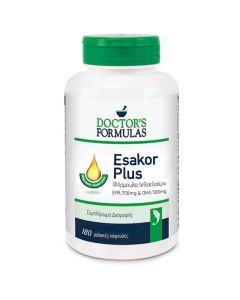 Doctor's Formulas Esakor Plus Φόρμουλα Ιχθυελαίων EPA 700mg & DHA 500mg - Ωμέγα 3 Λιπαρά Οξέα 180 μαλακές κάψουλες