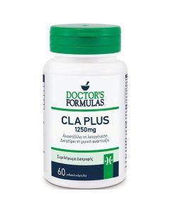 Doctor's Formulas CLA Plus 1250mg Συμπλήρωμα Διατροφής- Αναστέλλει Τη Λιπογένεση & Διεγείρει Τη Μυϊκή Μάζα 60 tabs