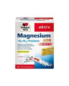 Doppel Herz Μαγνήσιο 400 +Β6+Β12+Φολικό Οξύ 20 Φακελάκια