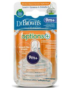 Dr. Brown's Options+ Θηλές Για Μπιμπερό Με Φαρδύ Λαιμό Επίπεδο 4 2τμχ