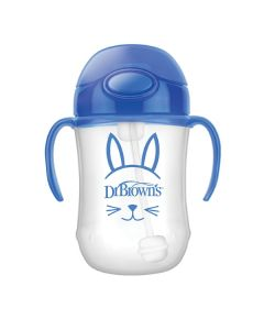 Dr. Brown's Κύπελλο Μπλε με Εύπλαστο Καλαμάκι για Αγόρι 270ml