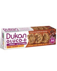 Dukan Gluco-D Μπισκότα Βρώμης Με Κομμάτια Σοκολάτας 12 Τμχ