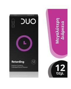 Duo Longer Pleasure Premium Condoms Προφυλακτικά Που Παρατείνουν Τη Σεξουαλική Απόλαυση 12τμχ