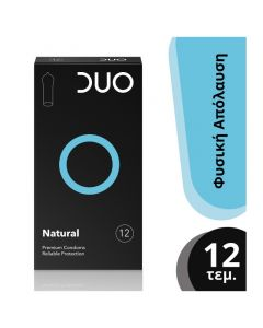 Duo Νatural Premium Condoms Προφυλακτικά Για Φυσική Απόλαυση 12τμχ