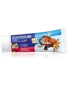 Elgydium Kids Ice Age 1000ppm Παιδική Οδοντόπαστα Gel Για Παιδιά 3 Έως 6 Ετών Με Γεύση Φράουλα 50ml
