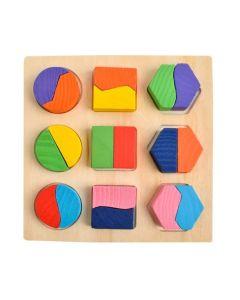 Wooden Toys Ξυλινο Παιδικο Παζλ με Γεωμετρικα Σχηματα Πρωτης Ηλικιας 812303 3+ 1Τμχ