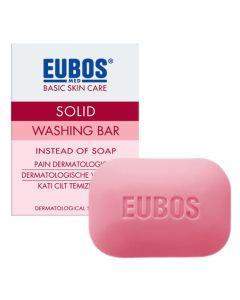 Eubos Solid Washing Bar Red Στερεή Πλάκα Καθαρισμού Για Πρόσωπο & Σώμα 125gr
