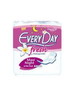 Every Day Fresh Maxi Night Ultra Plus Σερβιέτες Για Πολύ Μεγάλη Ροή 10Τμχ