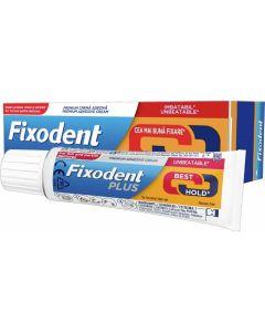 Fixodent Plus Best Hold Premium Denture Στερεωτική Κρέμα με Ισχυρό Κράτημα για Ολικές & Μερικές Οδοντοστοιχίες 40gr