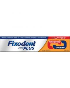 Fixodent Pro Plus Στερεωτική Κρέμα Τεχνητής Οδοντοστοιχίας Διπλής Δράσης 40gr