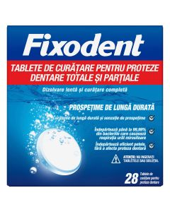 Fixodent Ταμπλέτες Καθαρισμού Για Ολικές & Μερικές Τεχνητές Οδοντοστοιχίες 28 τμχ