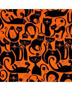 Υποαλλεργική Μάσκα Από Οργανικό Βαμβάκι Υψηλής Διαπνοής Πορτοκαλί Με Γάτες