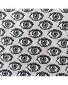 Υποαλλεργική Μάσκα Από Οργανικό Βαμβάκι Υψηλής Διαπνοής Με Σχέδιο Μάτια