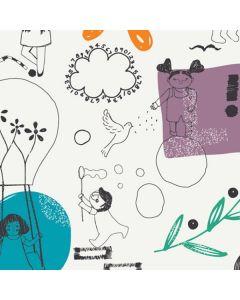 Υποαλλεργική Μάσκα Από Οργανικό Βαμβάκι Υψηλής Διαπνοής Με Σχέδιο Παιδική Χαρά